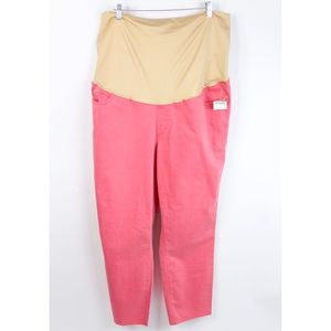 Ann Taylor LOFT Raw Hem Pants Maternity Full Panel